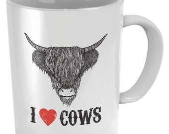 I Love Cows Too Mug Gift for Cow Lover