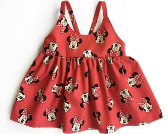 Minnie Mouse top or dress - kids Disney outfits