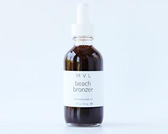 BEACH BRONZER - Body Bronzer, chocolate & coconut, 100% natural and vegan bronzing oil