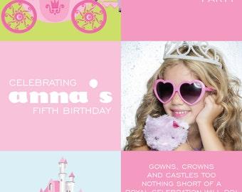 Princess Photo Invitation
