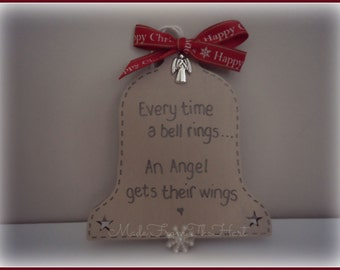 Christmas Bell Tree Decoration with Angel Charm
