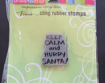 """Stampendous Cling Stamp 3.5""""X4"""" - Keep Calm - CRE281"""