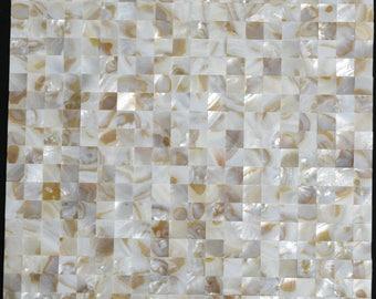 Groutless Mother of pearl wall tile seamless sea shell mosaic kitchen backsplash tile MOP010 shower wall tiles bathroom