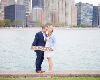 Save the Date Sign / Rustic Engagement Photo Prop / Rustic Engagement Sign / Country Engagement Sign / Rustic Save the Date / Date Sign
