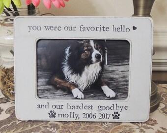 Personalized Loss of dog Frame Pet Sympathy Gift Pet loss gift Cat Pet Sign Dog Photo Frame cat Dog Memorial Frame Pet Lover Gift