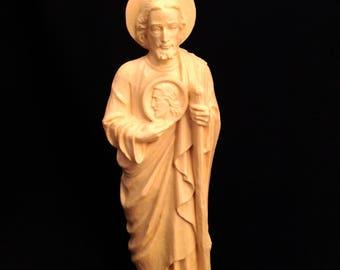 Vintage Saint Jude Statue Catholic Saints Mid Century Icons Hard Plastic Saints St Jude Patron Saint of Hope and Impossible Causes