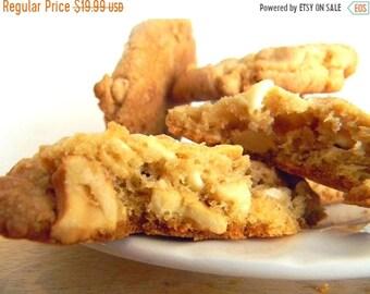 MEGA SALE White Chocolate & Cashew Cookies - HALF Dozen (6 cookies)