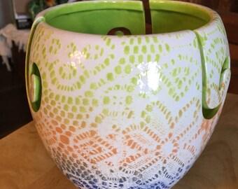 Laced Ceramic Yarn bowl