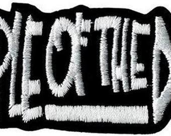 """Temple Of The Dog Iron On Embroidered Patch 4.2""""x2.4"""""""