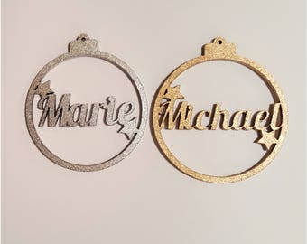 Personalised Christmas Decoration Baubles
