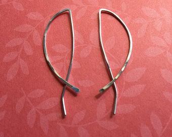 Sterling silver curved hoops