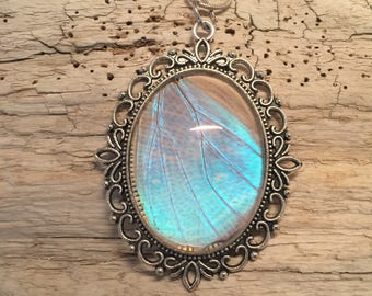 Jewelry, Real Butterfly jewelry, butterfly Wing Necklace, Blue Morpho Pendant, butterfly wing pendant, butterfly necklace, handmade pendant