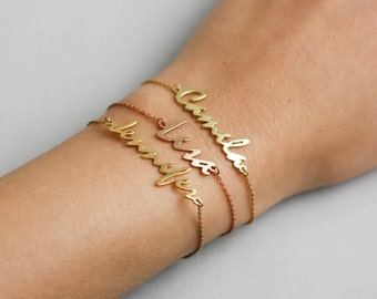 Name Bracelet, Mommy Bracelet, Custom Name Bracelet, Rose Gold Name Bracelet, Personalized Bracelet, Mother Bracelet, Name Jewelry, SB0181
