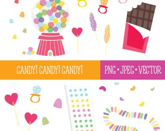 Candy Shop Clipart, Food Clipart, Cute Food Clipart, Chocolate Clipart, Sweets Clipart