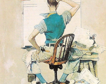 """Norman Rockwell Print Vintage 1978 """"The Artist"""""""