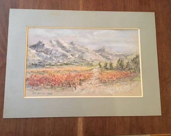 """An Original signed and dated Pastel Painting, 1984, 10"""" x 16"""""""