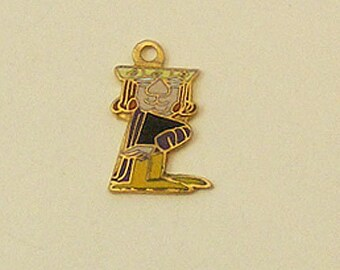 Wizard of Id Vintage Enamel Charm King 62-1