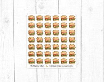 Kawaii burger planner stickers, kawaii stickers, food stickers, cute stickers, cute planner stickers,