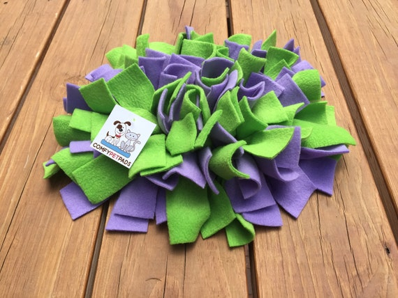 Small Pig Enrichment Toy, Nose Work Mat, Snuffle Mat, Rooting Rug, Dog Puzzle, Cat Snuffle Rug, Finished Size 11x10, Washable