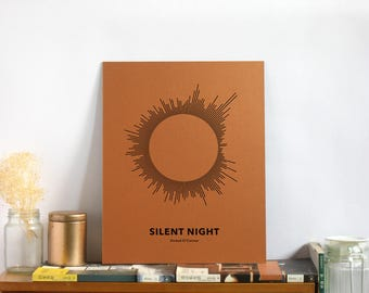 SUN Song Art Print - Silent Night - Motivational Gift Ideas for Xmas - 11 x 14 Unframed Quote Art for Sinéad O'Connor Fan Home Decor swp 201
