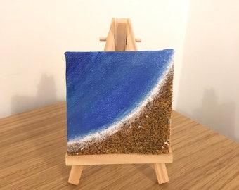 Mini sandy beach painting