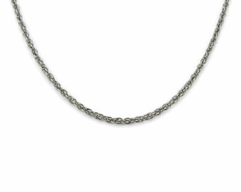 Double Rope Titanium Chain Necklace, Pure Titanium Chain Necklace for Sensitive Skin, Hypoallergenic and Nickel Free Titanium Necklace