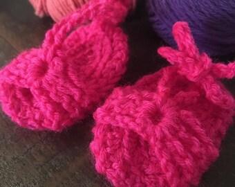 Crochet baby sandals, crochet sandals, baby sandals