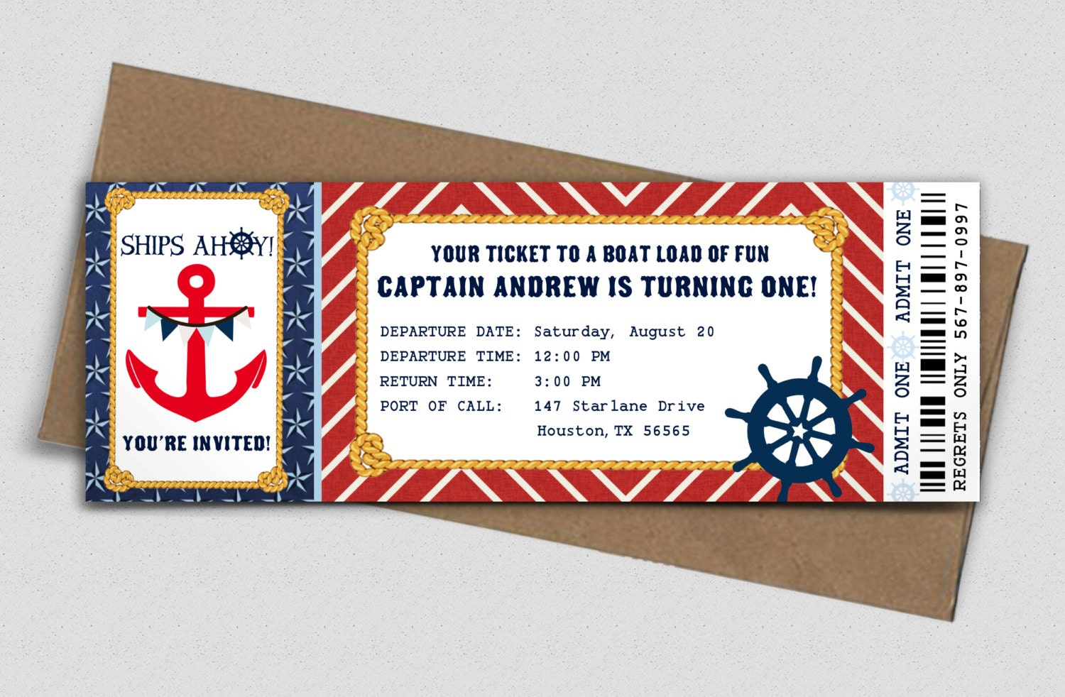 Nautical birthday party boarding pass invitation printable zoom pronofoot35fo Images