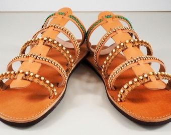 sandals, Greek leather sandals , decorated sandals,summer shoes, luxurious sandals ,wedding sandals