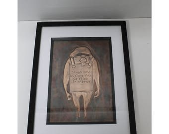 Framed Copper Etching
