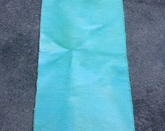 Mint Green 100% Organic Cotton Rug, Washable and Dryable