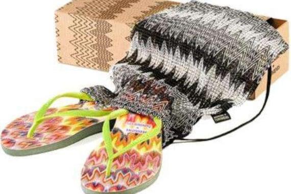 Custom Missoni Havaianas Slim Flip Flops w/ Swarovski Crystal RARE collector rainbow Multicolor Rhinestone Jewels Beach Sandal Thong  Shoes