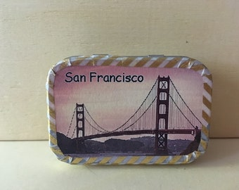 Altoids tin, mini, pocket souvenir box with souvenir cards