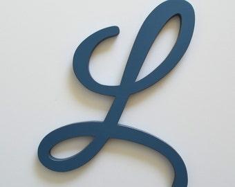 Wooden L Wood Letter L 12 inch Nursery Letter