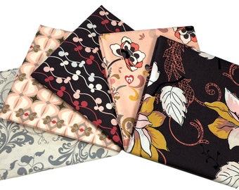 Art Gallery Rock n Romance Bundle, HALF YARD Bundle, Pat Bravo, Shabby Chic, Quilt Fabric, Quilting, Modern Farmhouse, Floral, 5 skus