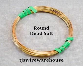 22ga Nu Gold Wire, Red Brass Wire, 22 Gauge, Round, Dead Soft, 485 ft. (1 Pound Spool)
