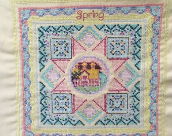 Machine Cross Stitch House Sampler Quilting Sewing Decoration