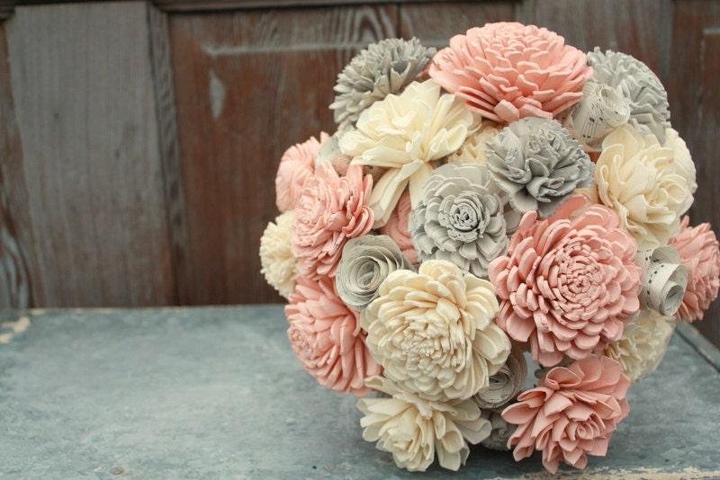 Sola Flower Bouquet Brides Wedding Blush Pink And