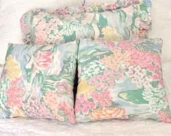Monet print pillow covers with sham, pastel colors, bedroom pillows, living room pillows, toss pillows, accent pillows, sofa pillows