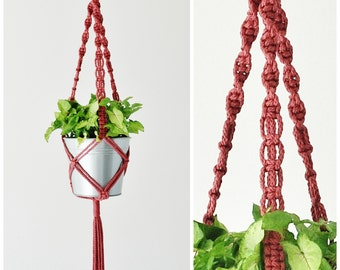 MACRAME PLANT HANGER // Hanging Planter // Hanging Plant Holder // Handmade in Canada