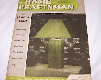 Vintage The Home Craftsman Magazine For Practical Home Owners 1949 July August CRAFT Issue