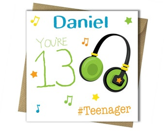 PERSONALISED 13th Birthday Card Teenager For Boy Brother Godson Son Grandson Nephew