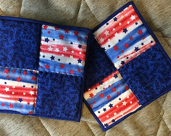 Patriotic Hot Pad / Pot Holder Set of 2