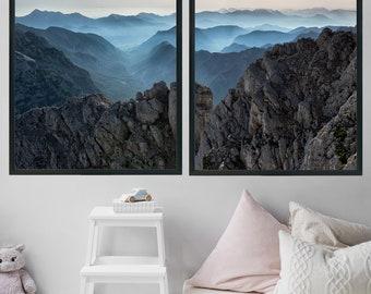 Extra Large Wall Art Printable Art Set Mountain Print Landscape Photography Minimalist Poster Office Decor Mountain Wall Art Gift Home Decor