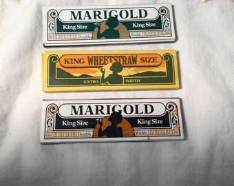 Vintage New Marigold Rolling Papers Tobacco Lot x  6 Unused