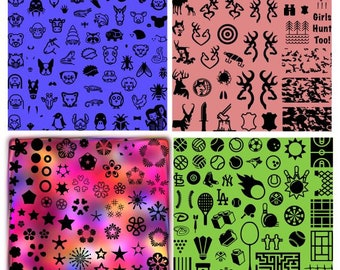 Limited Edition Nail Art Stamping Plates custom made collectible rare PRE-ORDER