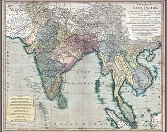 Poster, Many Sizes Available; Map Of Southeast Asia 1794 India Vietnam Thailand