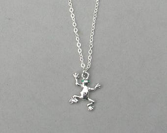 Rhodium Frog Necklace