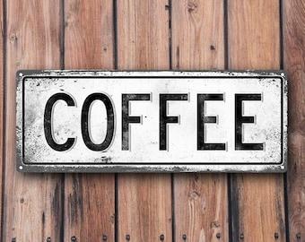 COFFEE Metal Street Sign, Vintage, Retro   MEM2004
