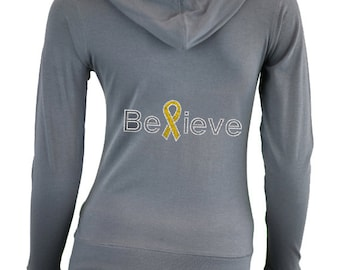 Custom Childhood Cancer Awareness Shirt . Fight Childhood Cancer . Childhood Cancer Awareness Clothes . GOLD Ribbon . Cancer Walk
